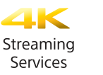 Symbol für 4K Streaming-Dienste