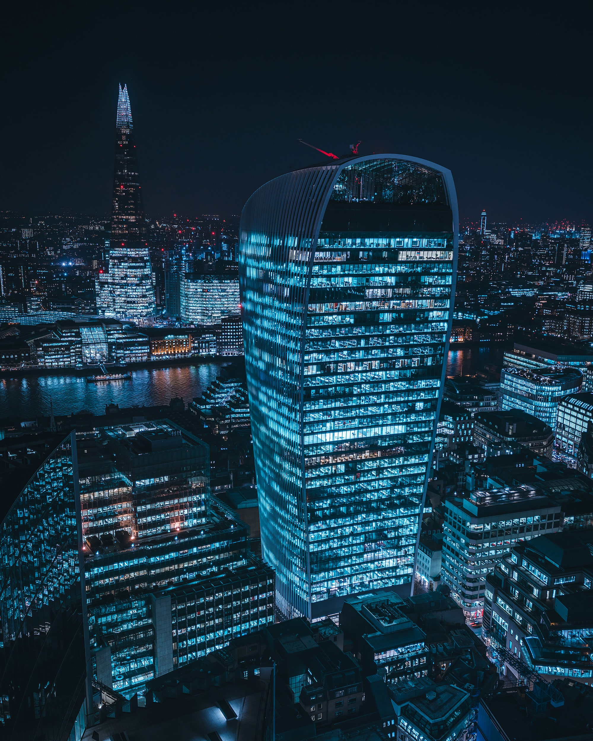Mike Will, Sony Alpha 7RIII, 20 Fenchurch-Gebäude bei Nacht