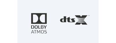Dolby Atmos/DTS:X-Logos