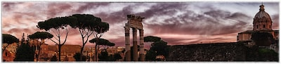 Dilian Markov Sony Alpha 7II Panoramaaufnahme Foro di Cesare in Rom bei Sonnenuntergang